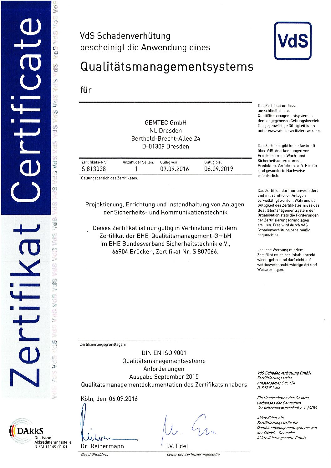 ISO 9001 Dresden